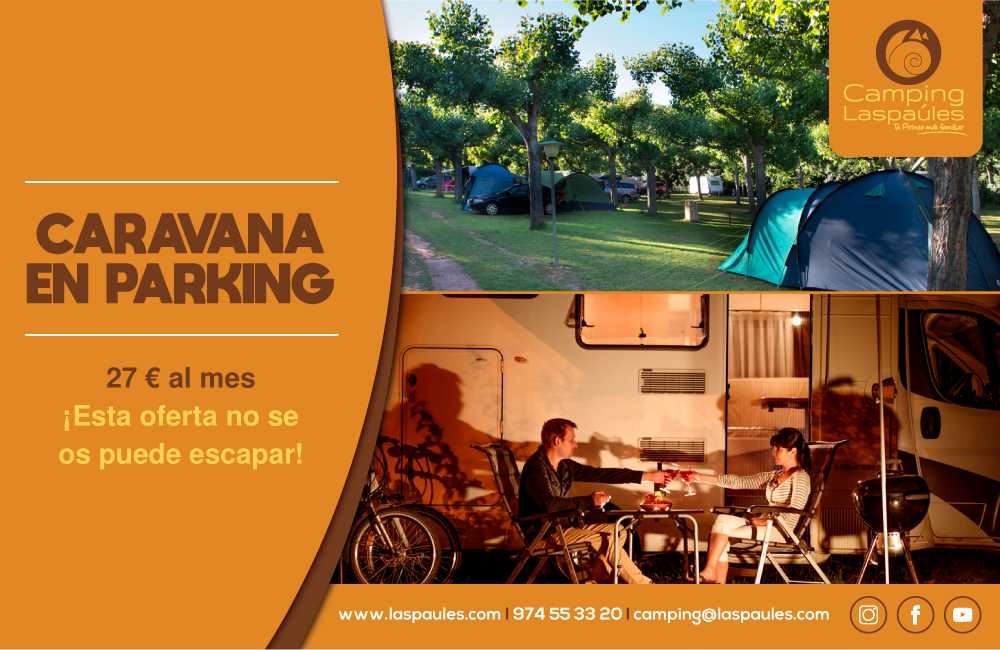 Caravana en el parking